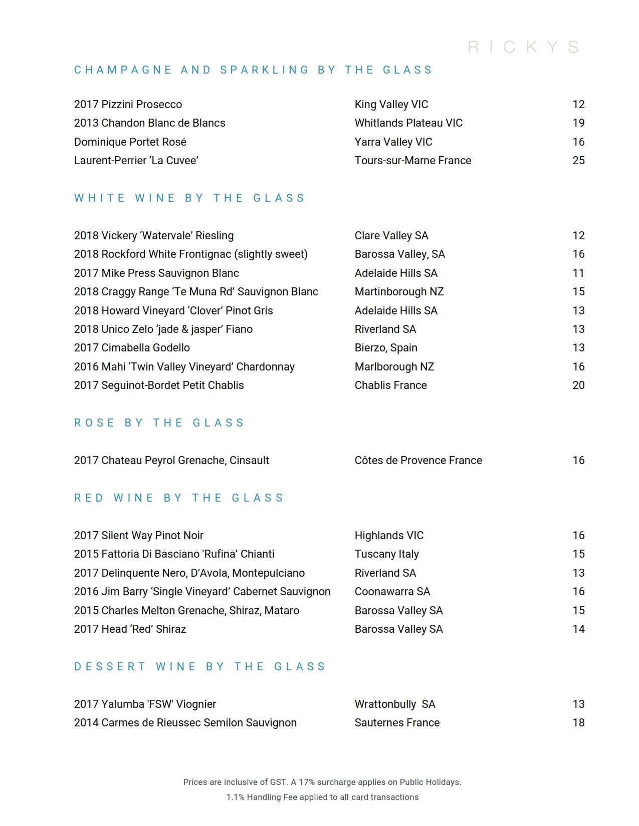 2019 04 01 Wine List 01