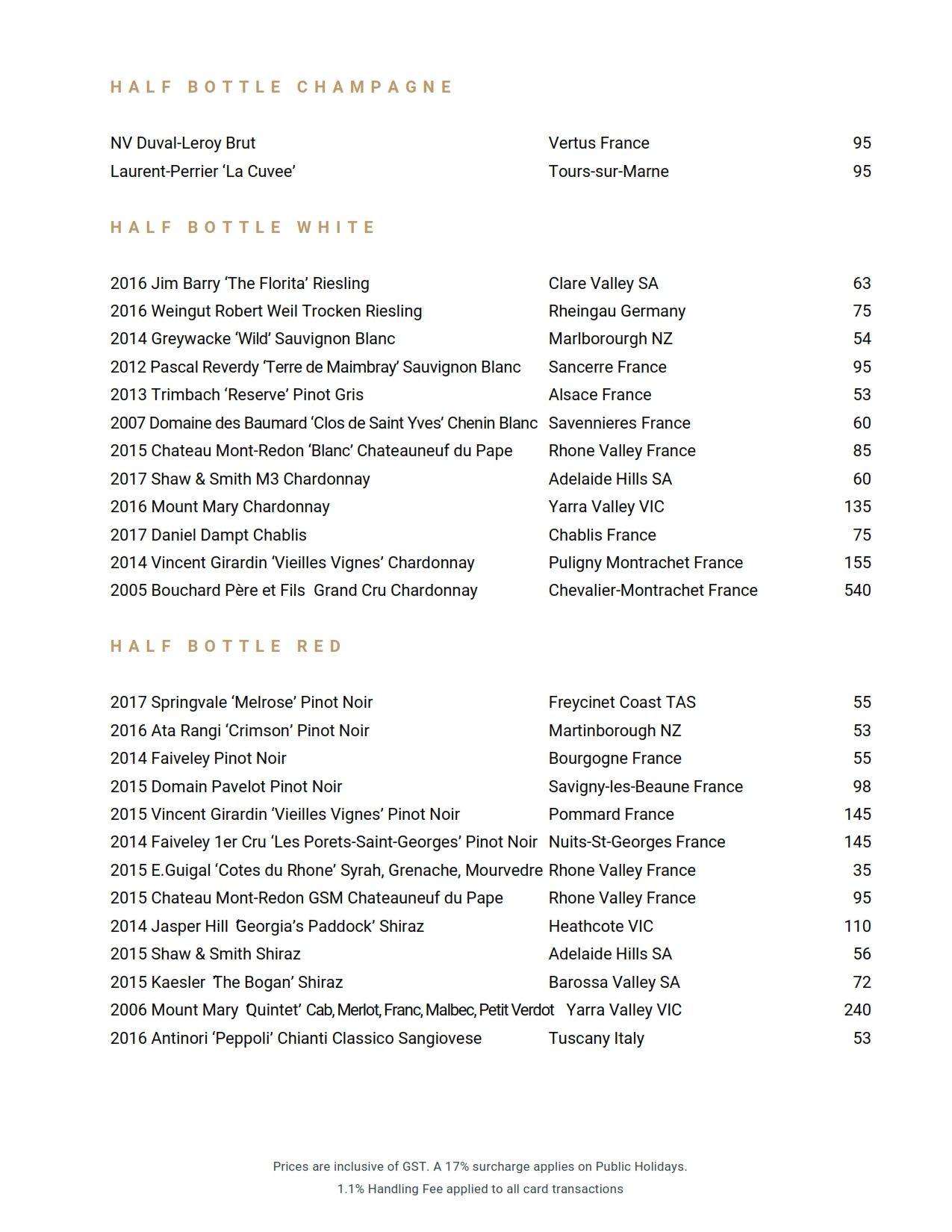 2019 06 05 Wine List 01
