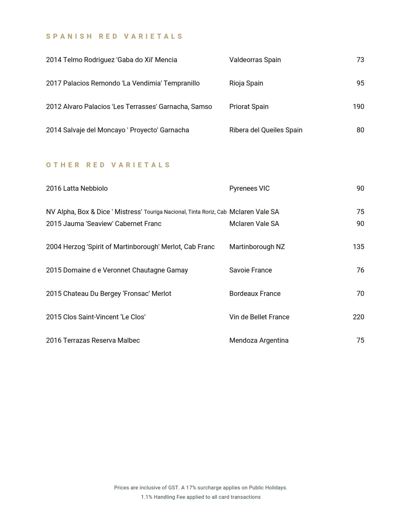 2019 06 05 Wine List 20