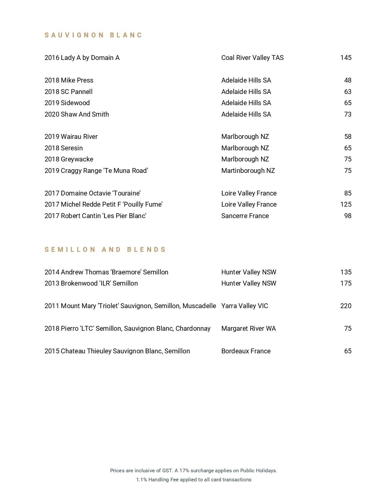 Beverage List 2020 07 31 09