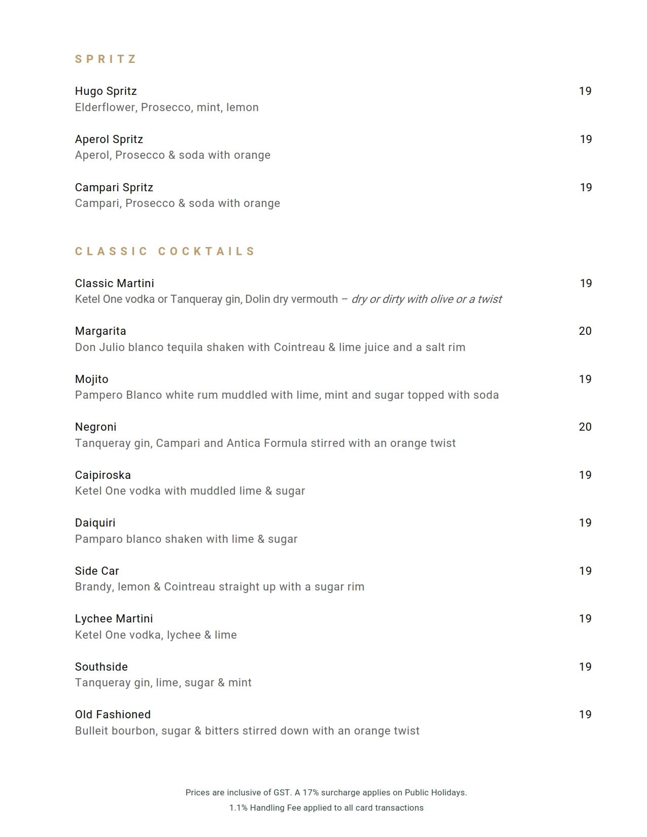 Beverage List 2020 10 07 03