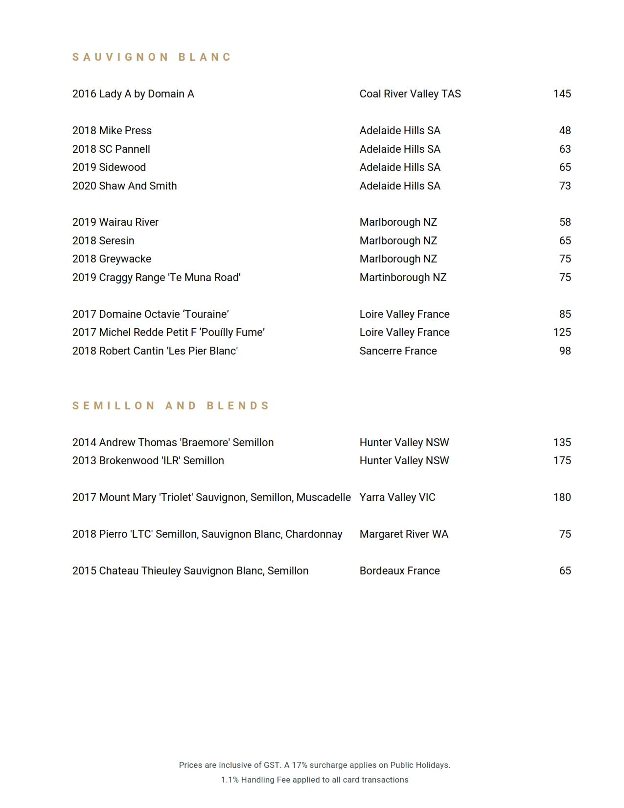 Beverage List 2020 10 07 10