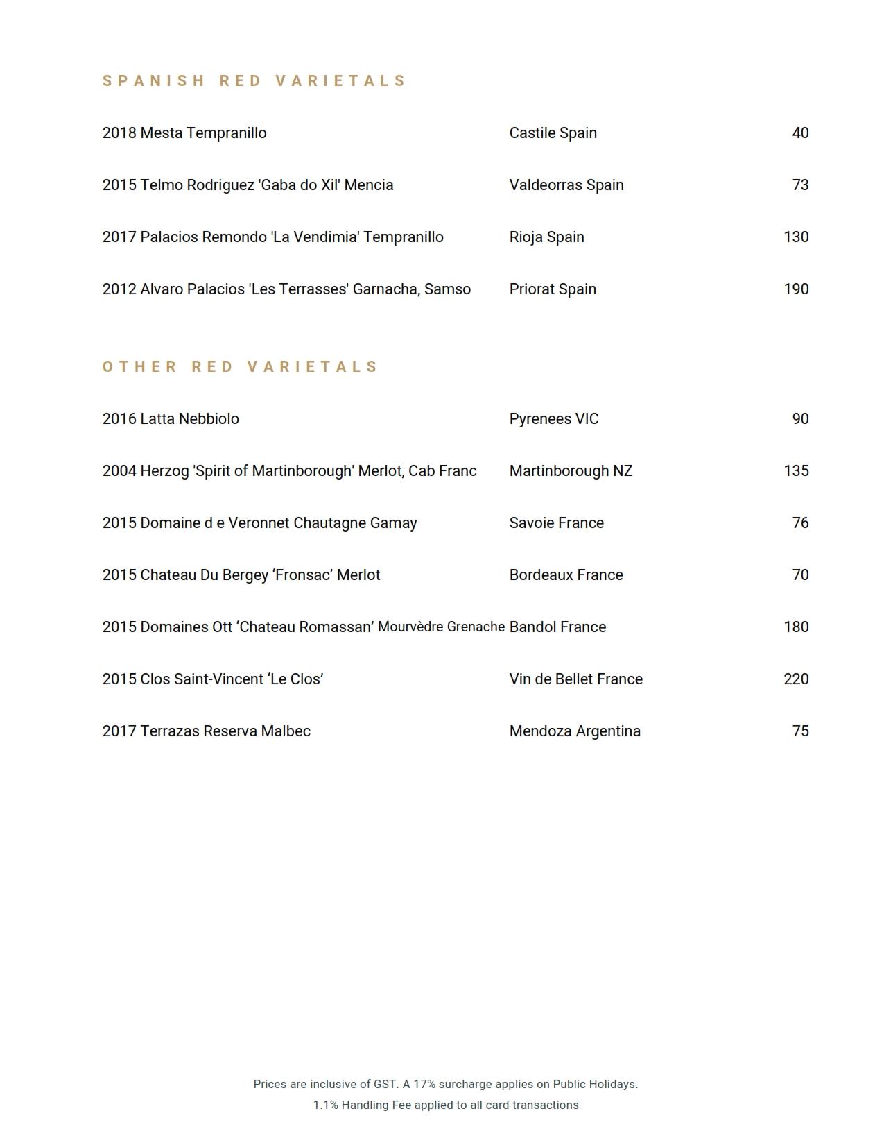 Beverage List 2020 10 07 26
