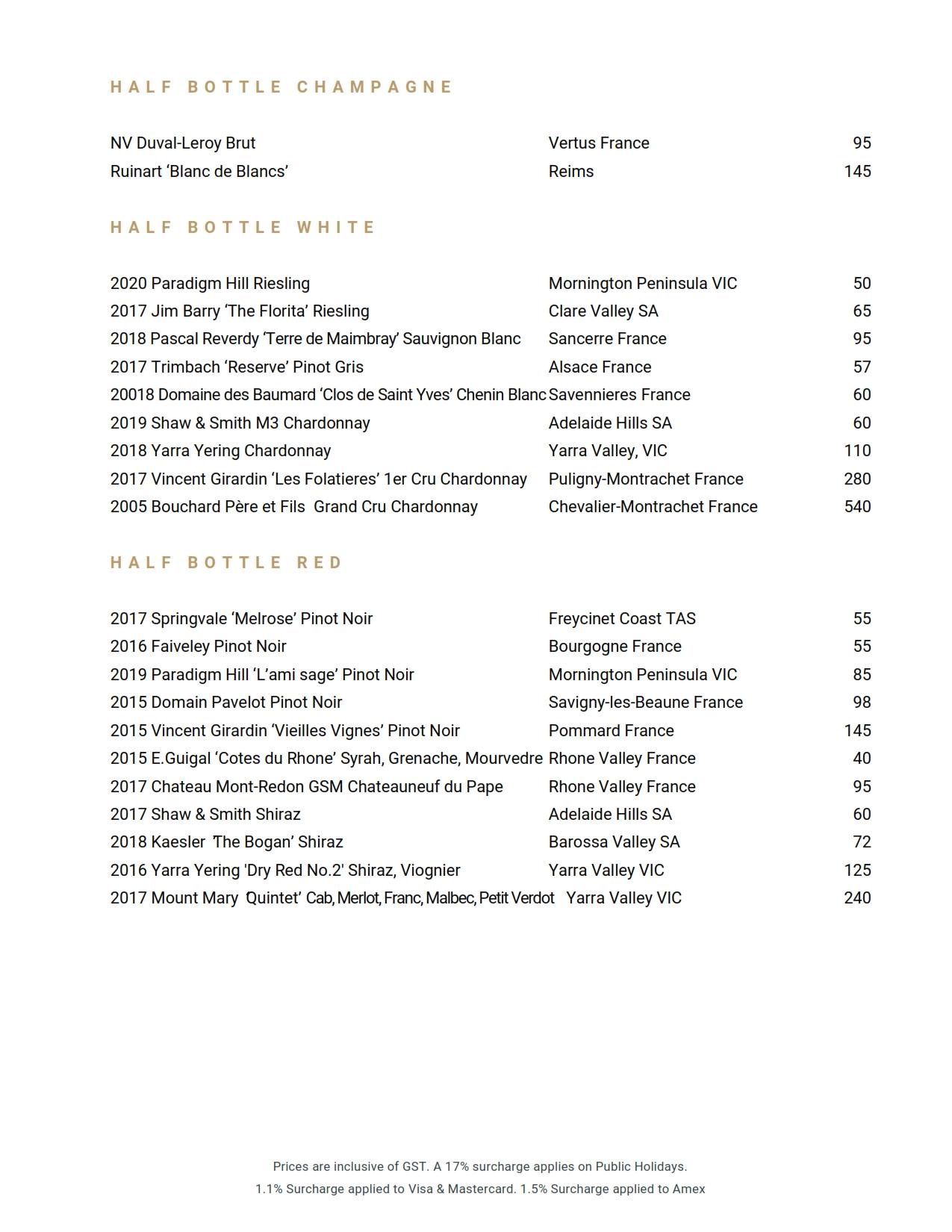 Beverage List 2021 08 11 05